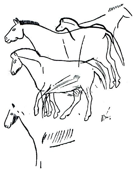 Horse Herd from the Cavern of Font de Gaume